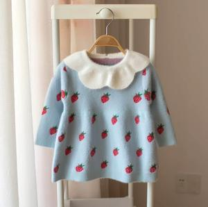 Image 2 - Baby Girls Knitted Dress 2019 autumn winter Clothes children Toddler Tops Shirts for girl Kids princess Cotton Christmas Dresses