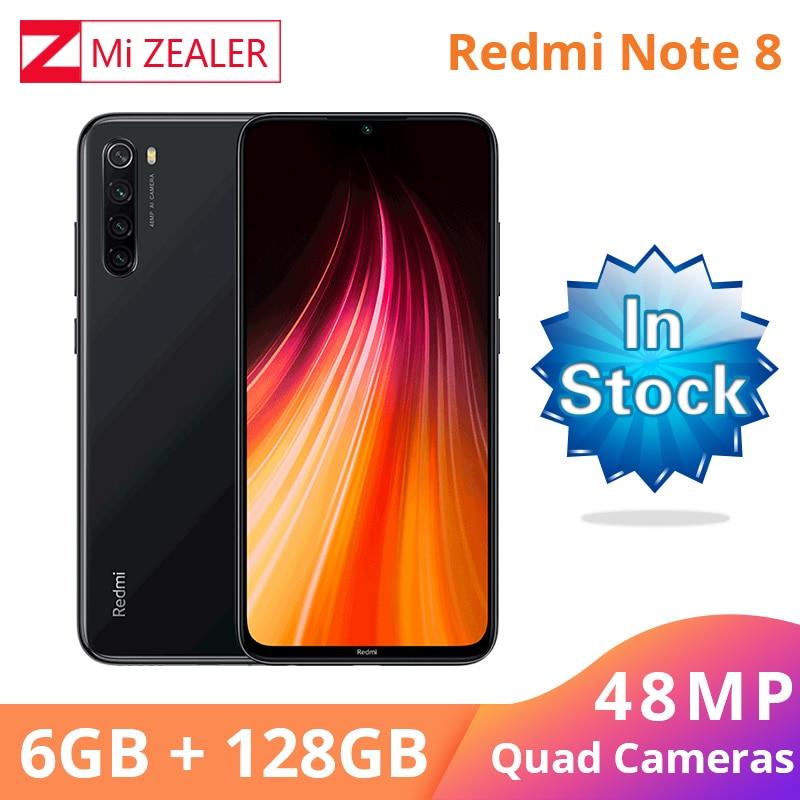 Купить Новый Xiaomi Redmi Оригинал Note 8 6 ГБ ОЗУ 128 Гб ПЗУ Snapdragon 665 смартфон 48MP Quad Rea камера мобильный телефон на Алиэкспресс