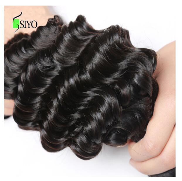 """Image 5 - Siyo Deep Wave 3 Bundles with Frontal 8 26"""" M Remy Human Hair with 13x4 Lace Frontal Malaysian Hair Bundles with Closure-in 3/4 Bundles with Closure from Hair Extensions & Wigs"""