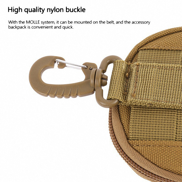 1000D Nylon Tactical Waist Bag Multifunction Camping Hiking Molle Pouch Military Purse Key Bag Mini Outdoor Hunting Accessories 6