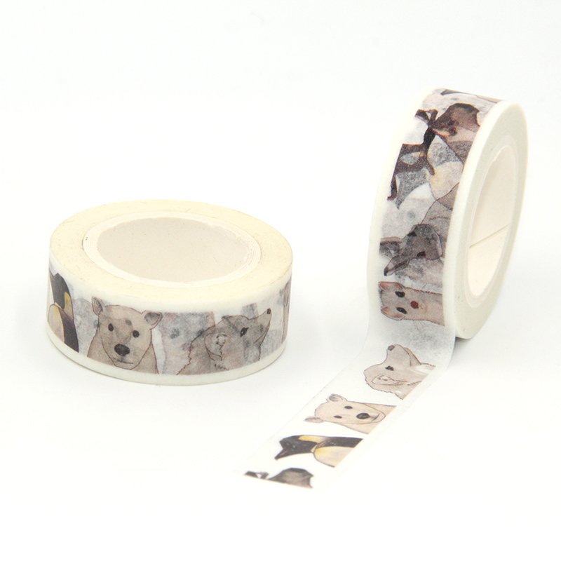New Arrival 1PC 15MM*10M Cute Pet Dogs Washi Tape Wide Sticky Adhesive Tape Scrapbooking Album DIY Decorative Paper Tape