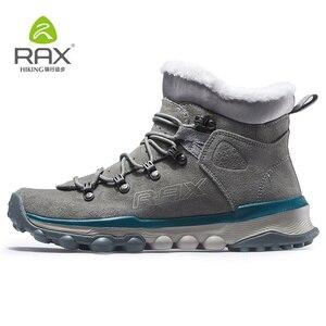 Image 1 - RAX hommes bottes de randonnée en cuir véritable chaussures hiver randonnée bottes pour hommes en plein air chaud randonnée chaussures baskets chaussures de marche homme