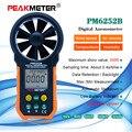 MS6252B Digital Anemometer Wind Geschwindigkeit Air Volumen Messung USB Daten hochladen Luft Feuchtigkeit Flow Meter-in Geschwindigkeit-Messgeräte aus Werkzeug bei