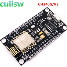 Módulo sem fio ch340 nodemcu v3 lua, 5 unidades novo sem fio internet das coisas placa de desenvolvimento esp8266 ESP 12E baseado