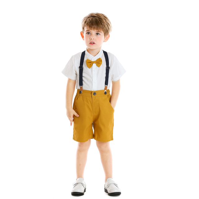 Baby Boy's Summer Clothing Set with Suspenders 2