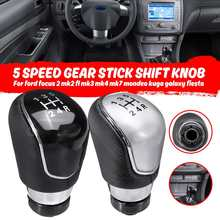5 / 6 Speed PU leather Gear Stick Shift Knob For Ford Focus 2 MK2 FL MK3 MK4 MK7 for Mondeo Kuga for Galaxy 2018+ for Fiesta(China)
