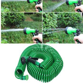 7 5M 15M chowany cewka magia elastyczny wąż ogrodowy do samochodu rura wąż plastikowe węże podlewanie ogrodu z pistolety natryskowe tanie i dobre opinie CN (pochodzenie) Wąż wody Regulowany Elastyczne Ogród zwijadła Z tworzywa sztucznego Garden Water Hose