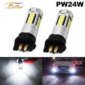 Светодиодный ксеноновый светильник PW24W PWY24W белого цвета, 2 шт., для Audi, BMW, Volkswagen, указатели поворота или дневные ходовые огни белого/янтарного...
