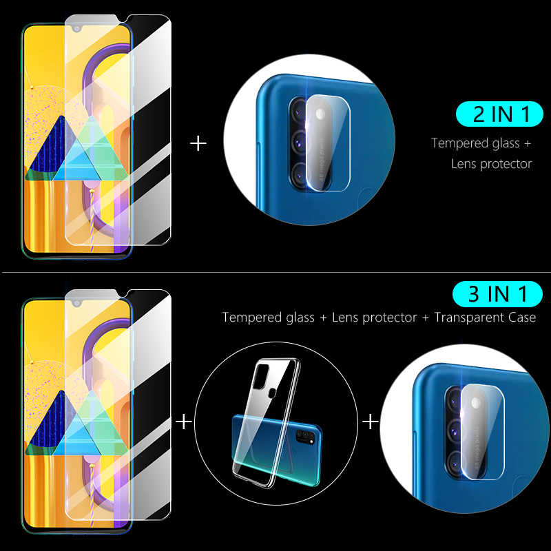 3-in-1 + กล้องสำหรับ Samsung A50S M30s A20e A10s ป้องกันหน้าจอเลนส์ฟิล์ม galaxy M30 A10 A20 A50 ป้องกัน