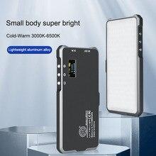 QZSD карманный размер Портативный 180 бисер светодиодный видео светильник встроенный аккумулятор 4500 мАч алюминиевый корпус камера студийная фотография заполняющий светильник