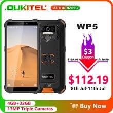 OUKITEL WP5 5.5 8000mAh IP68 Waterproof Smartphone 4GB 32GB Quad Core לשלושה מצלמות אנדרואיד 9.0 נייד טלפון 5V/2A