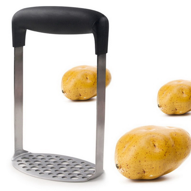 Potato Masher Egg Manual Masher Mini Mashed Potatoe Fruit Masher Smooth Horizontal Handle