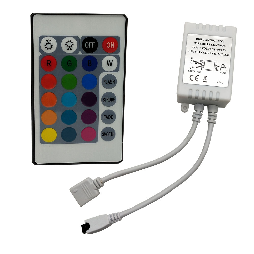 Led Controller 24 Keys LED IR RGB Controler LED Lights Controller Remote DC12V 6A For RGB 2835 3528 5050 LED Strip