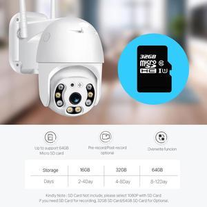 Image 5 - BESDER 1080P Outdoor Speed Dome Wifi IP Camera 2MP H.265 Audio PTZ Wireless AI Camera Cloud SD Slot ONVIF Security CCTV Camera