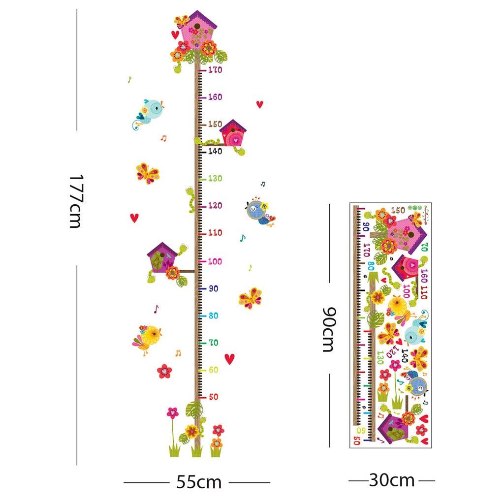 Wallpaper Sticker Cartoon Measuring Height Detachable Wall Sticker For Kids Rooms Growth Chart Nursery Room Decor Wall Art #YL1