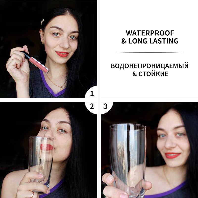 BANXEER Set Di Trucchi Cosmetici 2pcs Lipgloss + Mascara 4D IMPERMEABILE Rossetto Liquido di Estensione Del Ciglio di Trucco Kit