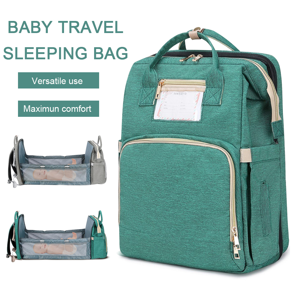 Baby Diaper Bag Backpack Bed Crib Baby Sleeping Bag For Travel Bed Diaper Pad Stroller Organizer In Stock Dropshipping