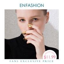 ENFASHION Punk Nails pierścień pierścienie dla kobiet akcesoria złoty kolor kreatywny pierścień modna biżuteria na prezent Dropshipping R194024