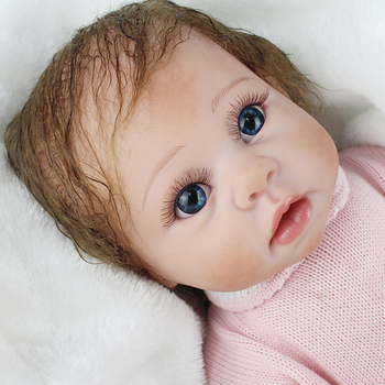 55CM lifelike reborn toddler bebe doll reborn baby girl soft silicone vinyl stuffed body Christmas surprice gifts doll