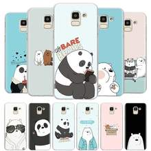 Cute Bears We Bare Bears Case Cover for Samsung Galaxy J4 J6 Plus J8 2018 J4+ J6+ M10 M20 M30 M40 Hard Cases(China)