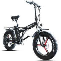 Sheng milo bicicleta eléctrica ebike 48V500W bicicleta eléctrica de montaña bicicleta eléctrica plegable 4,0 neumático gordo 48V15AH batería de litio