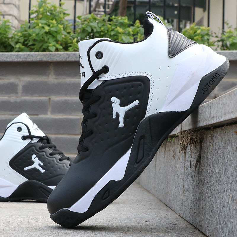 New Brand Basketball Shoes Men High-top Sports Shoes Cushioning Hombre Athletic Mens Sneakers Comfortable Black Sneaker Male