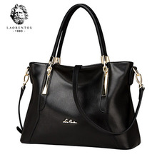 LAORENTOU Women Top Handbags Luxury Lady Cowhide Leather Purse Casual Totes Womens Bags Crossbody Shoulder Bags Female Handbag