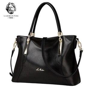 Image 1 - Laorentou mulheres topo bolsas de luxo senhora couro bolsa casual totes bolsas femininas crossbody bolsas de ombro bolsa feminina