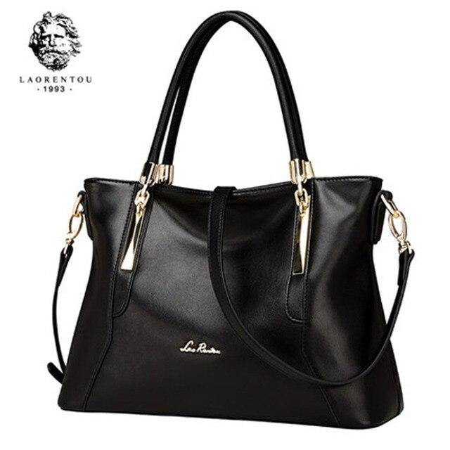 Laorentou mulheres topo bolsas de luxo senhora couro bolsa casual totes bolsas femininas crossbody bolsas de ombro bolsa feminina