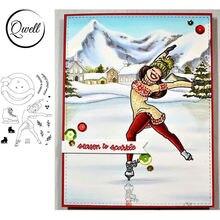 Прозрачные штампы qwell для катания на коньках скрапбукинга