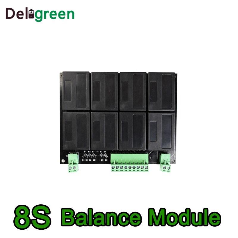 8 S/24 V QNBBM batería de litio equilibrador BMS para LIFEPO4, LTO NCM LMO 18650 DIY paquete