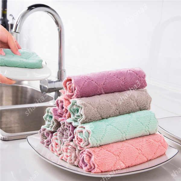 Haushalts Super Saugfähigen Reinigungs Tuch Rag Für Autos Mikrofaser Küche Handtuch Geschirrtücher Waschen Reinigung Lumpen Für Dish Waschen