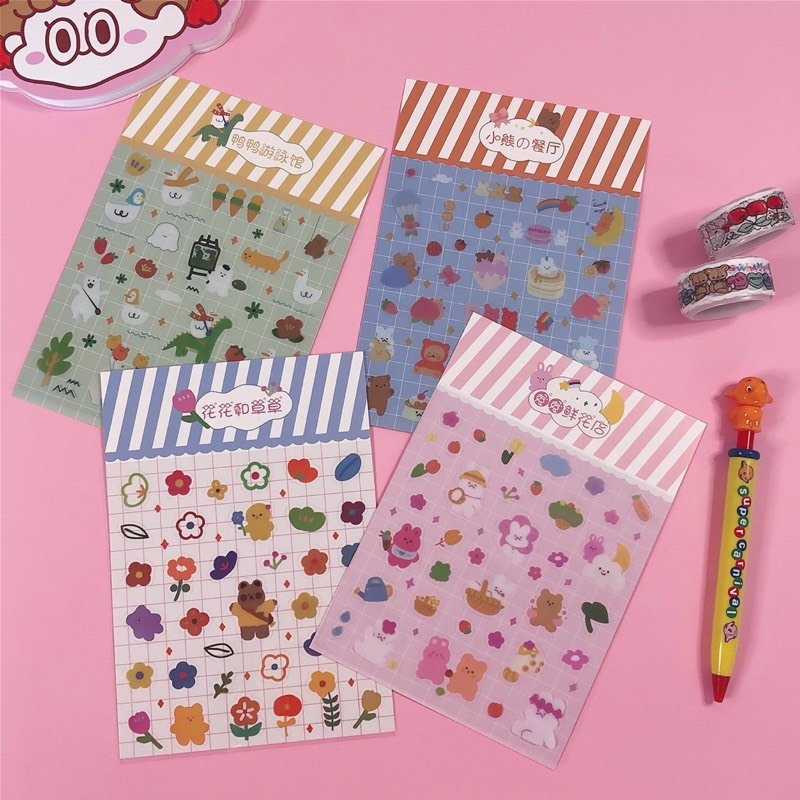 1 Bag Flower  Journal Paper Scrapbooking  DIY  Diary Decoration Stickers  Animal