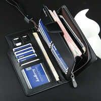 Baellerry Long portefeuille hommes fermeture à glissière sac à main pour hommes porte-monnaie embrayage homme portefeuilles portefeuille homme MWS002-4