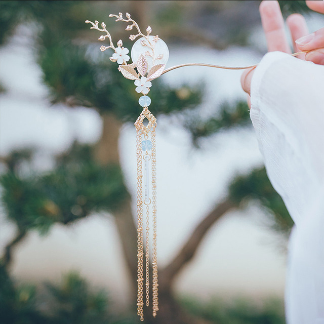 YYOUFU аксессуары для волос женские ювелирные изделия Китайская классическая шпилька с длинными кисточками шпилька для волос коготь для воло...