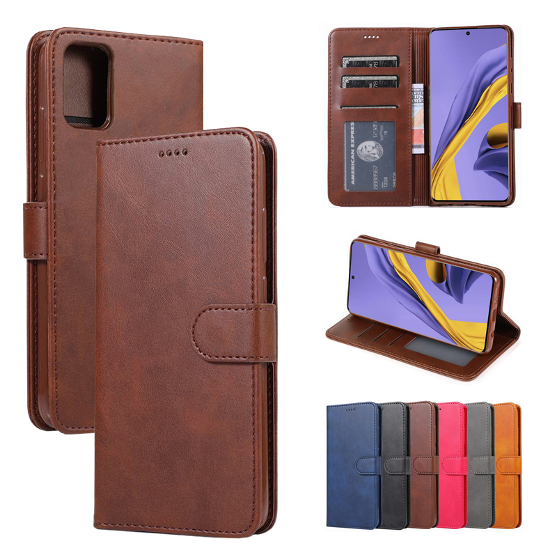 Wallet Case For Samsung Galaxy A51 A71 Cover Case Magnetic Closure Flip Luxury Stand Leather Phone Bag For Samsung A 71 51 Coque