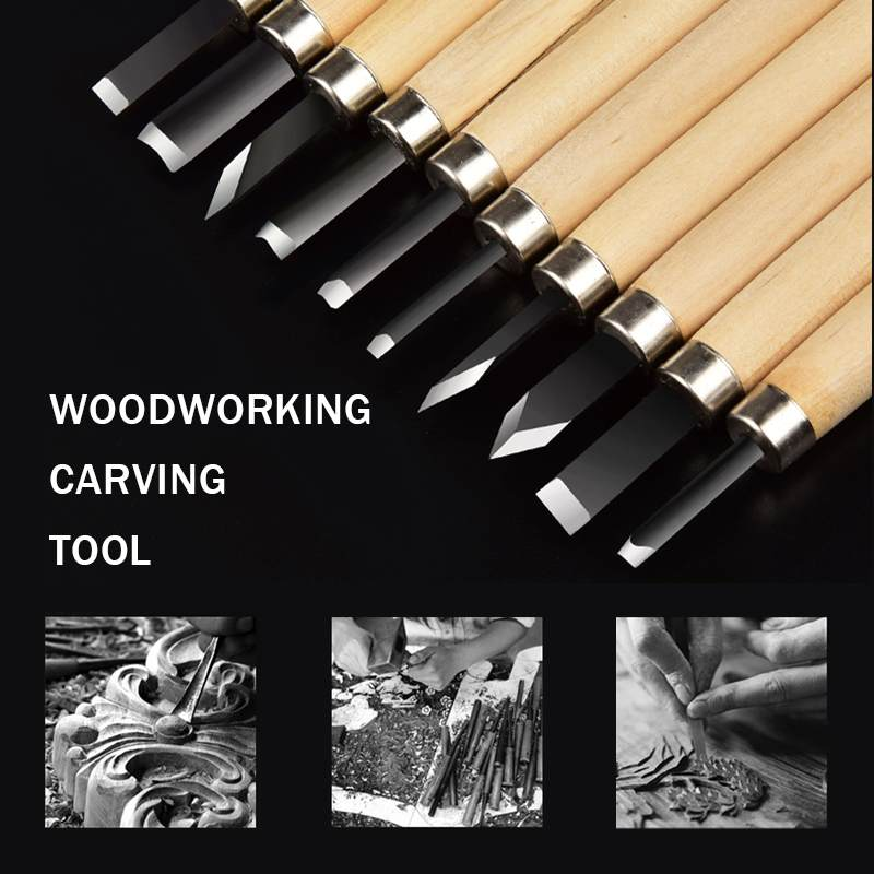 Doersupp Wood Carving Chisels Knife 3/8/12pcs/Set For Basic Wood Cut DIY Tools And Woodworking Gouges Professional Hand Tools