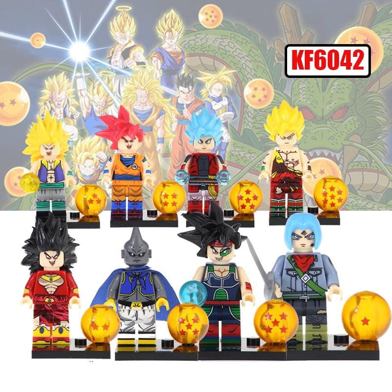 KF6042 Buiding Blocks Z Dragon Ball Figures Majin Buu Gotenks Broli Son Goku Bricks Action Learning Dolls LegoingLys Figure Toys
