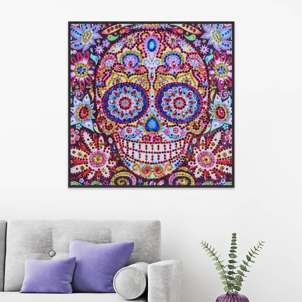 5D DIY Special Shaped Diamond Painting Skull Cross Stitch Mosaic Art Craft Kits