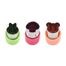 Vegetables Cutter Cook-Tools Kitchen-Gadgets Fruit-Cutting Plastic-Handle Stainless-Steel