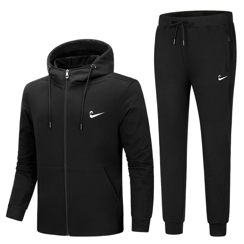 Youth Spring And Autumn 2018 New Style Trend Leisure Sports Suit Men Students Two Piece Set Clothes Hoodie Handsome