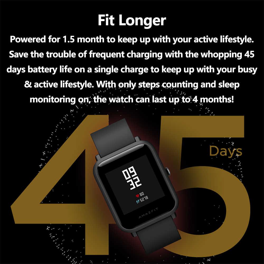 Huami הגלובלי גרסה Amazfit ביפ לייט חכם שעון עם 45 ימים המתנה GPS קל smartwatch