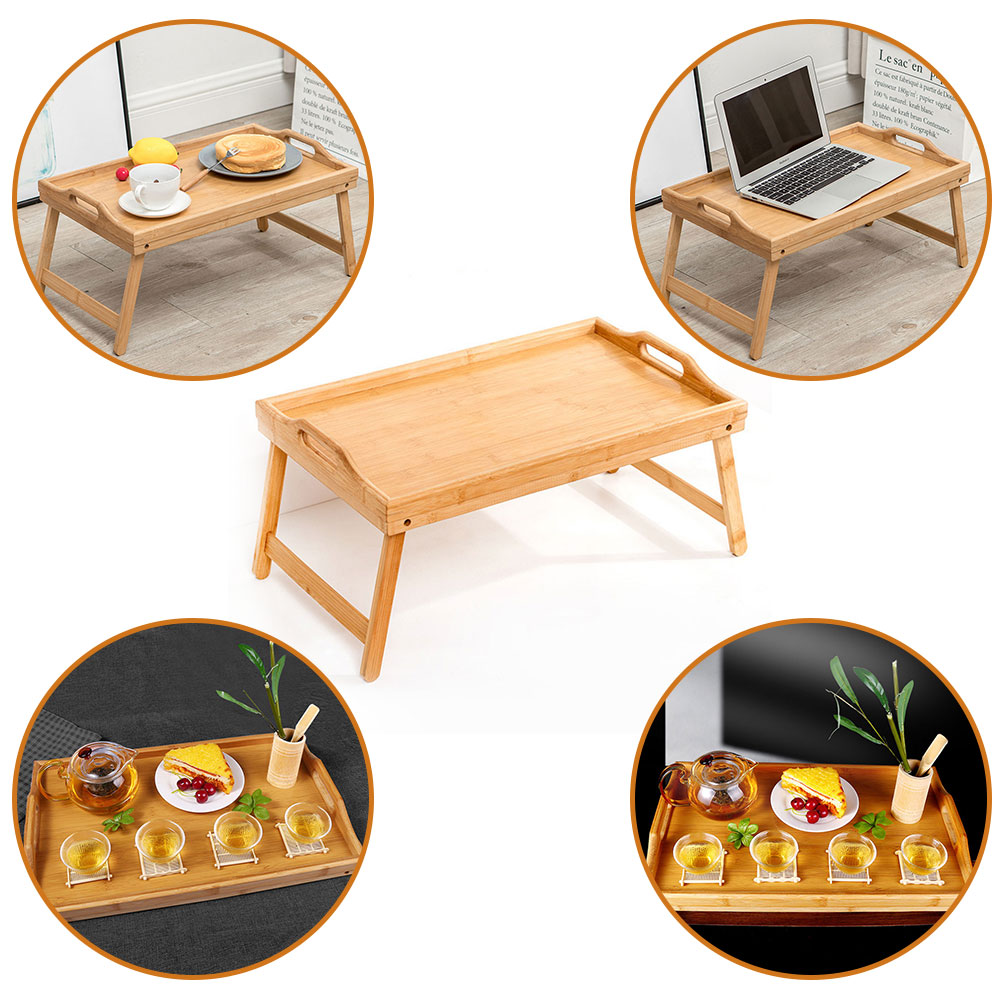 New Wooden Folding Small Table Tray Multifunctional Laptop Computer Desk Stand Outdoor Portable Picnic Table Laptop Bed Tray N12