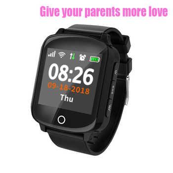 D200 D200SE Smart Uhr GPS Tracker Locator für Ältere Frauen Männer Smartwatch mit Herbst schutz Herz Rate Blutdruck SOS