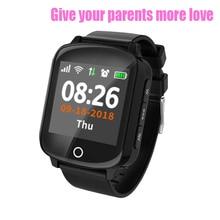 D200 D200SE akıllı saat GPS iz sürücü bulucu yaşlı kadınlar ile erkekler Smartwatch düşme koruması kalp hızı kan basıncı SOS