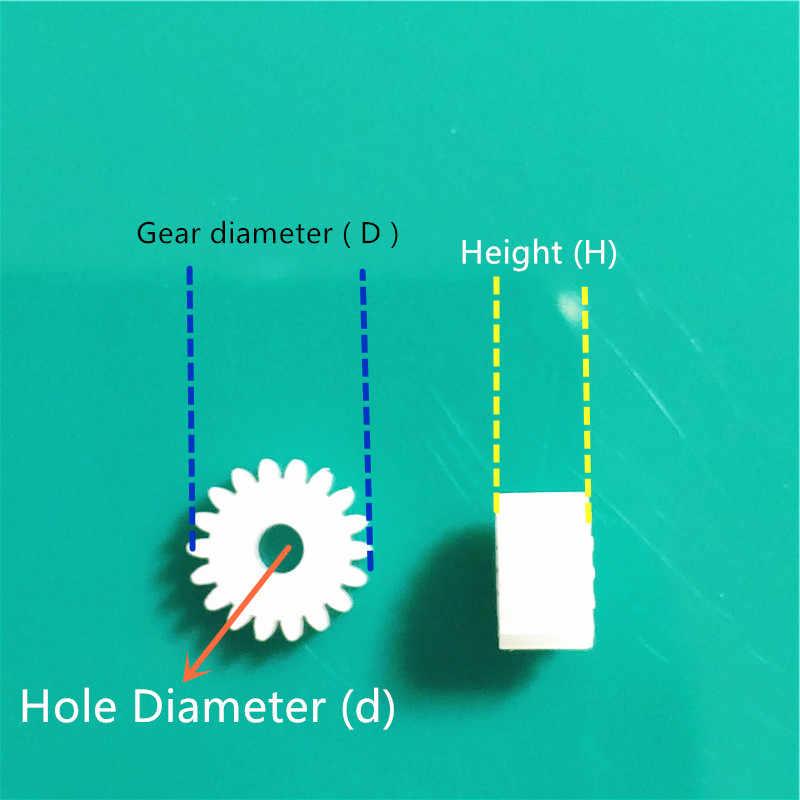 ทั้งหมดชนิดพลาสติกเพลาเกียร์กลุ่ม 2 มอเตอร์ฟันแกนเกียร์ชุด 1 มม.2 มม.เส้นผ่าศูนย์กลางรู DIY เฮลิคอปเตอร์หุ่นยนต์ของเล่น Dropshipping