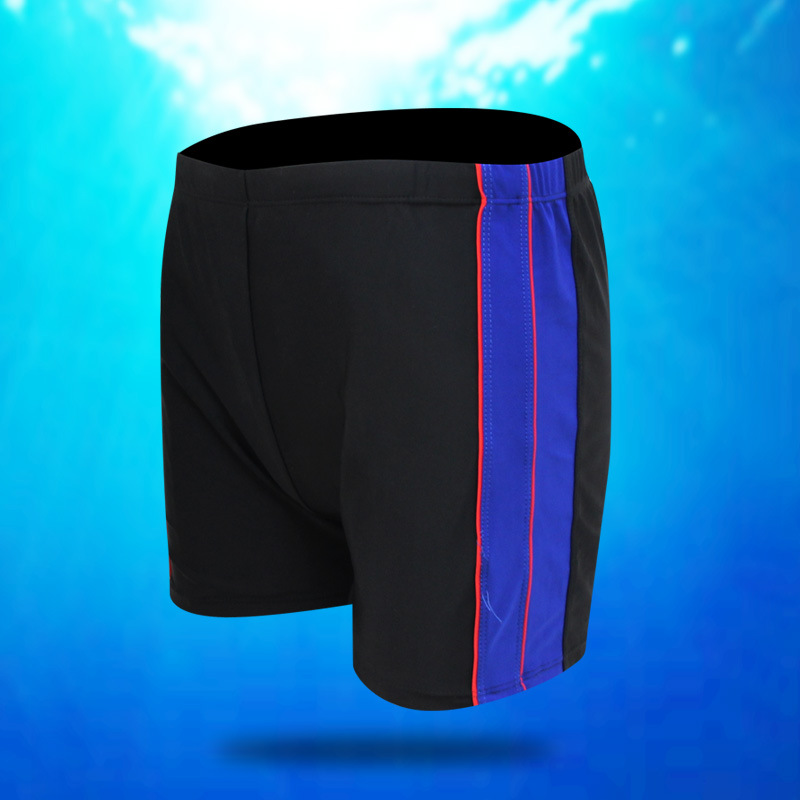 New Style MEN'S Swimming Trunks Fashion & Sports Casual Boxer Joint Swimming Trunks Single Color Stripes Large Size Plus-sized S