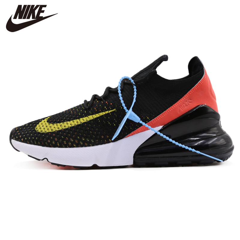 Original Nike <font><b>Air</b></font> <font><b>Max</b></font> <font><b>270</b></font> <font><b>Flyknit</b></font> Black Women Running Shoes New Arrival Sneakers Stylish image