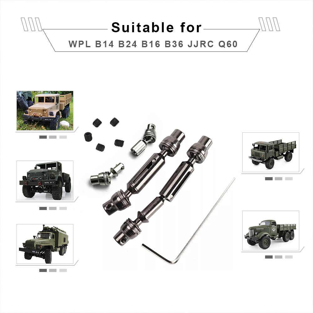 3 Pcs Logam Poros Drive WLP RC Suku Cadang Truk untuk WPL B14 B16 B24 B36 Brica Q60 RC Mobil truk