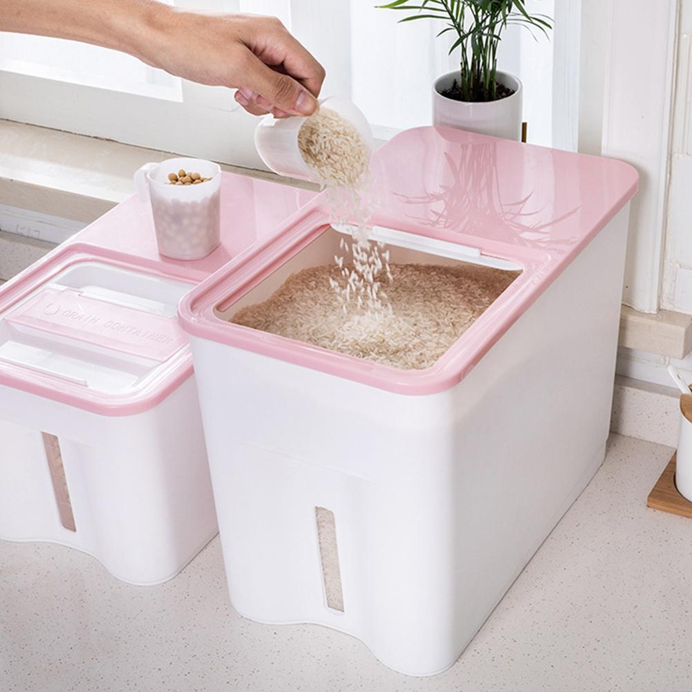 Kitchen Rice Storage Box Grain Cereal Dispenser Food Moisture Proof Container Food Storage Container